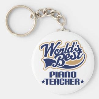 Piano Teacher Gift Basic Round Button Keychain