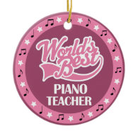Piano Teacher Gift For Her Christmas Tree Ornaments