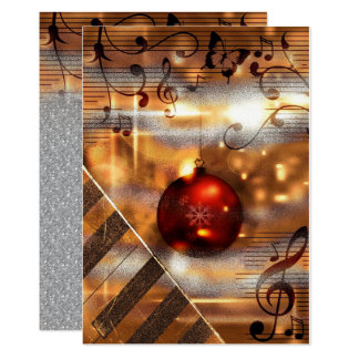 piano teacher holiday greeting Cards