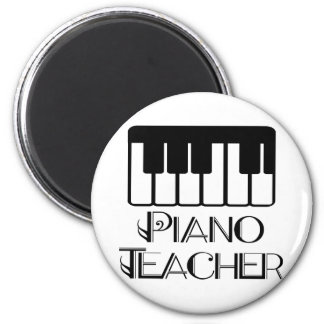 Piano Teacher Keyboard Music Magnet