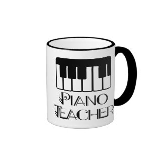 Piano Teacher Keyboard Music Mugs