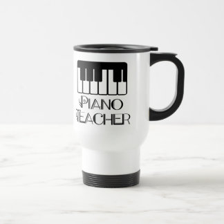 Piano Teacher Keyboard Music Travel Mug