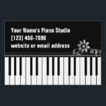 "Piano Teacher Keyboard Yard Sign<br><div class=""desc"">Classy black and white yard sign features keyboard and customizable text.  Prominent keyboard will let passersby know that you teach piano or other keyboard instruments.</div>"