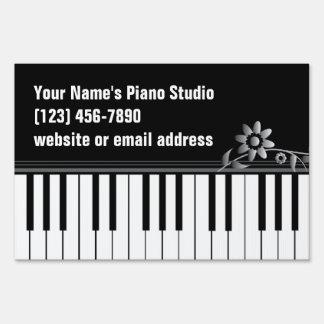Piano Teacher Keyboard Yard Sign