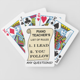 Piano Teacher List Of Rules 1.png Bicycle Card Decks