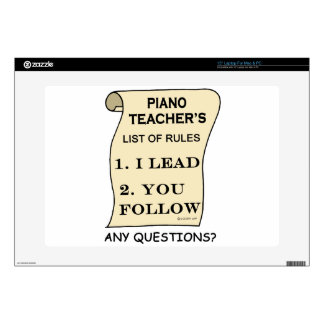 """Piano Teacher List Of Rules 1.png 15"""" Laptop Skin"""