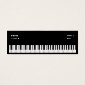 Piano Teacher Mini Business Card