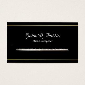 Piano Teacher Music Composer Professional Elegant Business Card