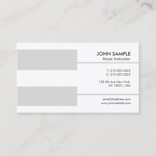 Piano Teacher Music Lessons Instruction Luxury Business Card