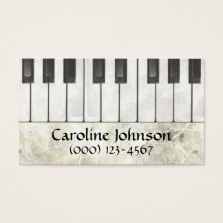 Piano Teacher Musician Business Cards