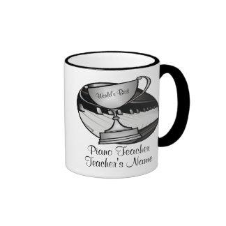 Piano Teacher or Pianist Ringer Mug