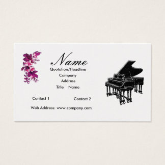 Piano Teacher or Sales Grand Piano Business Card