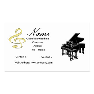 Piano Teacher or Sales Grand Piano Business Card Template