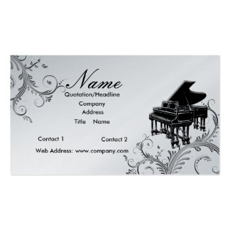 Piano Teacher or Sales Grand Piano Business Cards