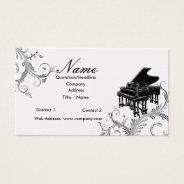Piano Teacher Or Sales Grand Piano Business Card at Zazzle