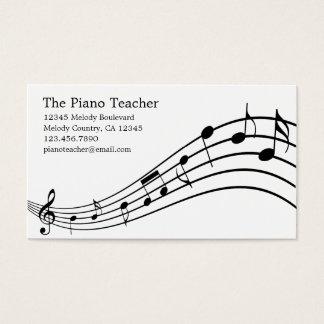 Piano Teacher Pianist Musician's Business Card