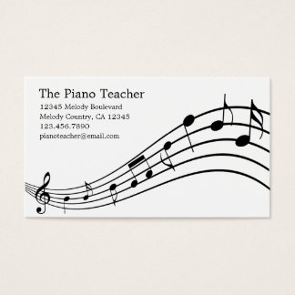 Piano Teacher Pianist Musician's Business Card