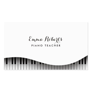 Piano Teacher Piano Keyboard Simple Elegant Business Card