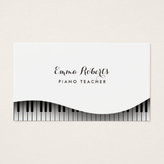 Piano Teacher Piano Keyboard Simple Elegant Business Card