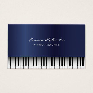 Piano Teacher Royal Blue Musical Business Card