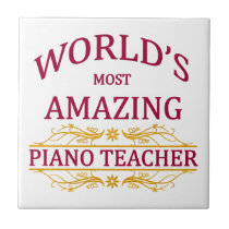 Piano Teacher Tile