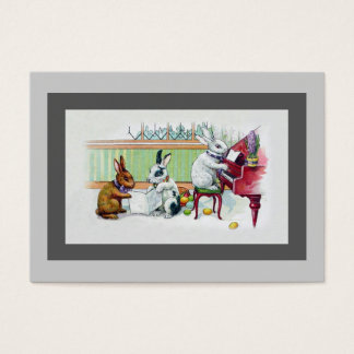 Piano Teacher Tutor Rabbit Breeder - Two Sided Business Card