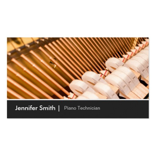 Piano Technician  Piano Tuner - Elegant and Chic Double-Sided Standard Business Cards (Pack Of 100)