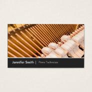 Piano Technician  Piano Tuner - Elegant And Chic Business Card at Zazzle