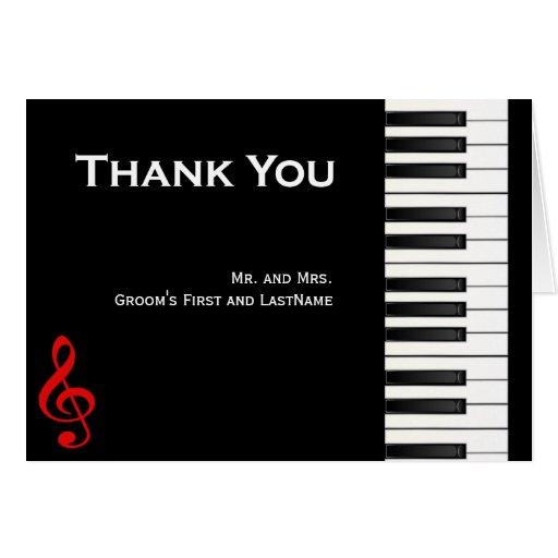 Piano Thank You Card