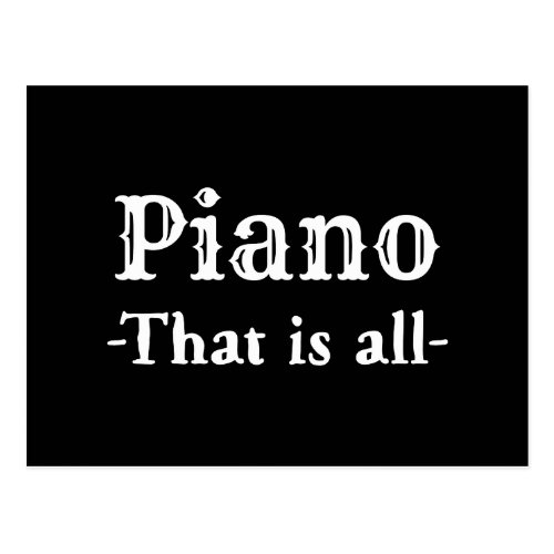 Piano That Is All Funny Music Postcard