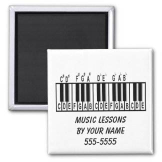 Piano Theory 2 Inch Square Magnet