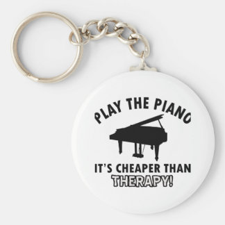 piano therapy design basic round button keychain