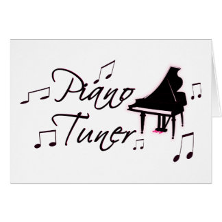 Piano Tuner Music Notes with Pink Pedals and Trim