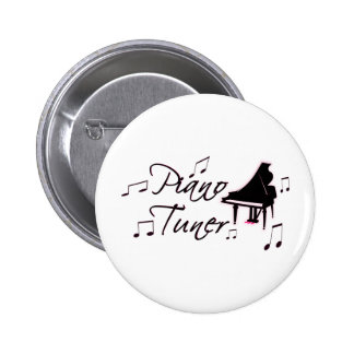 Piano Tuner Music Notes with Pink Pedals and Trim Pins