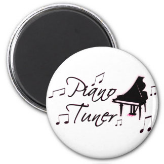 Piano Tuner Music Notes with Pink Pedals and Trim Magnet