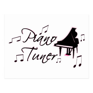 Piano Tuner Music Notes with Pink Pedals and Trim Postcards