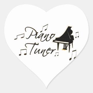 Piano Tuner witih Brownish Orange Pedal and Trim Heart Sticker