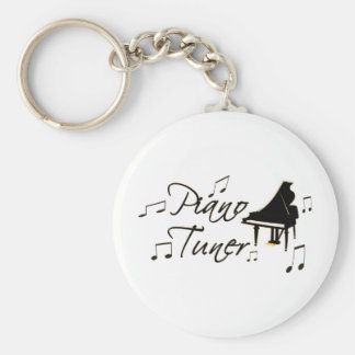 Piano Tuner witih Brownish Orange Pedal and Trim Keychain