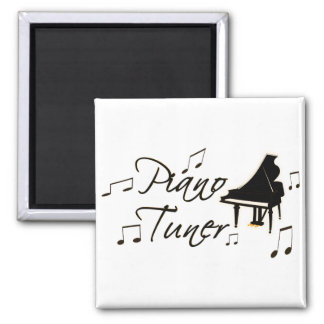 Piano Tuner witih Brownish Orange Pedal and Trim Magnet