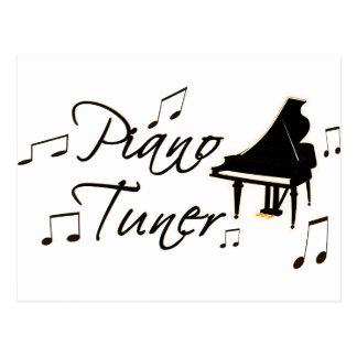 Piano Tuner witih Brownish Orange Pedal and Trim Post Card