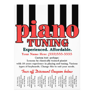 Piano Tuning. Keyboard. Music lessons. Tear sheet