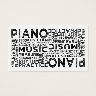 Piano Typography Business Card