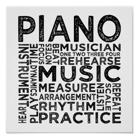 Piano Typography Poster