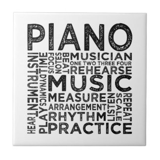 Piano Typography Tile