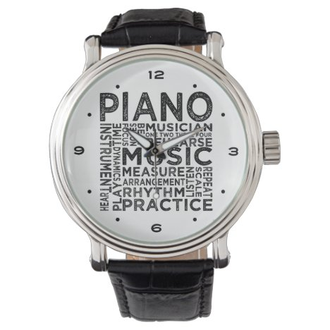 Piano Typography Watch
