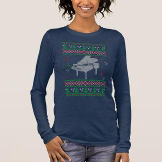 Piano Ugly Christmas Long Sleeve T-Shirt