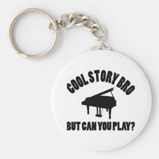 Piano Vector Designs Keychains