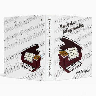 Piano Version – Music Is What Feelings Sound Like Binder
