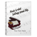 Piano Version What Feelings Sound Like - Customize Spiral Notebooks