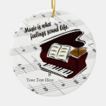 Piano Version What Feelings Sound Like - Customize Christmas Ornaments